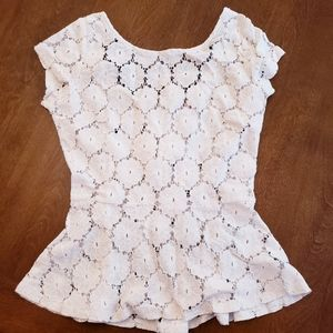 🌻Eyeshadow Ivory lace top / blouse size M